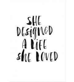 She Designed a Life She Loved BW