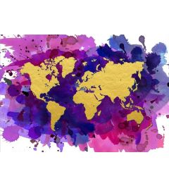 Weltkarte - Gold