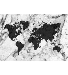 Weltkarte - Schwarz