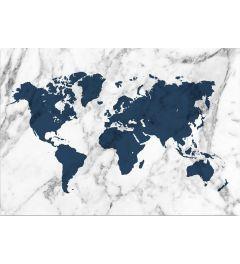 Weltkarte - Blau