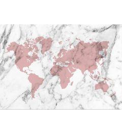 Weltkarte - Rot