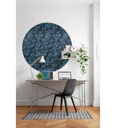 Azul Selbstklebende runde Tapete ⌀125cm