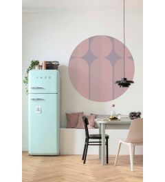 Bauhaus Fusion Selbstklebende runde Tapete ⌀125cm