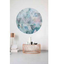 Blueprism Selbstklebende runde Tapete ⌀125cm