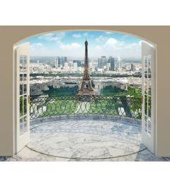 Paris Eiffelturm 12-teilige Fototapete 305x244cm