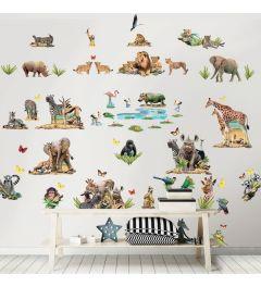 Jungle Safari Wandtattoo Set