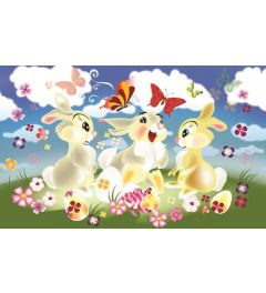 Kaninchen 4-teilige Fototapete 368x254cm