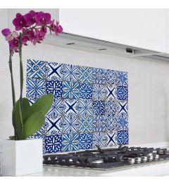 Wandtattoo Azulejos Blau 65x47cm