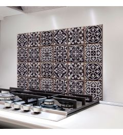 Wandtattoo Azulejos Schwarz 65x47cm
