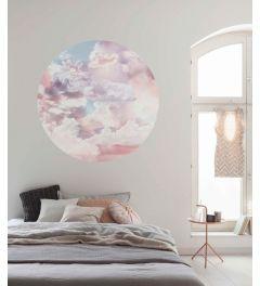 Candy Sky Selbstklebende runde Tapete ⌀125cm
