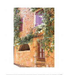 Caroline Mint Mediterranean Back Street II Art Print 30x40cm