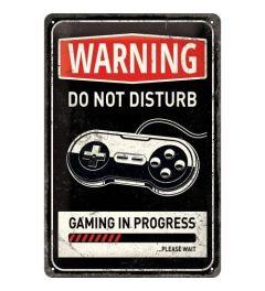 Gaming in progress Blechschilder 20x30cm