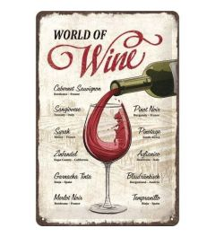 World of Wine Blechschilder 20x30cm