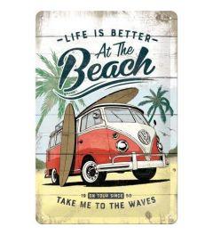 VW Bulli Beach Blechschilder 20x30cm