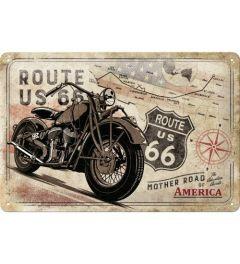 Route 66 Bike Map Blechschilder 20x30cm