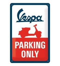 Vespa Parking Only Blechschilder 20x30cm