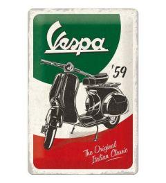Vespa The Italian Classic Blechschilder 20x30cm