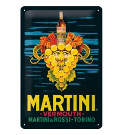 Martini Vermouth Grapes Blechschilder 20x30cm