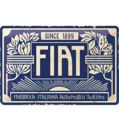 Fiat Since 1899 Logo Blue Blechschilder 20x30cm