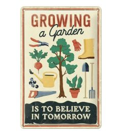 Growing a Garden Blechschilder 20x30cm