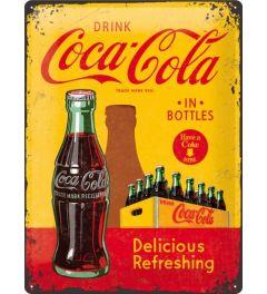 Coca-Cola- In Bottles - Gelb