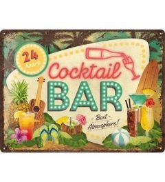 Cocktail Bar Blechschilder 30x40cm