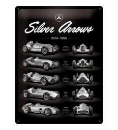 Mercedes Benz Silver Arrows Chart Blechschilder 30x40cm