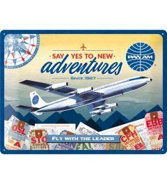 Pan Am New Adventures Blechschilder 30x40cm