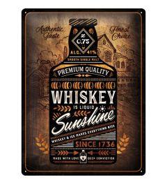 Whiskey Sunshine Blechschilder 30x40cm