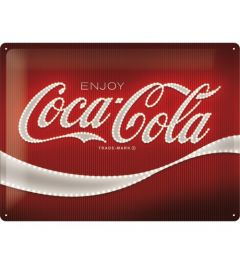 Coca Cola Logo Red Lights Blechschilder 30x40cm