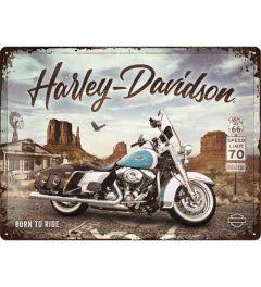 Harley Davidson Route 66 Road King Classic Blechschilder 30x40cm
