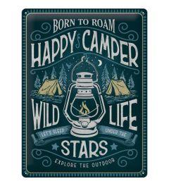 Happy Camper Blechschilder 30x40cm