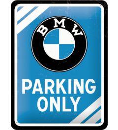 BMW - Parking Only - Blau
