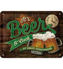 Beer O' Clock Blechschilder 15x20cm
