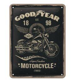 Goodyear Motorcycle Blechschilder 15x20cm