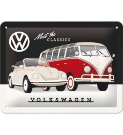 VW Meet The Classics Blechschilder 15x20cm