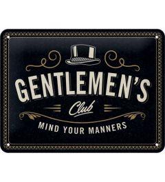 Gentlemen's Club Blechschilder 15x20cm