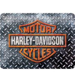 Harley Davidson Diamond Plate Blechschilder 15x20cm