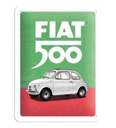 Fiat 500 Italian Colours Blechschilder 15x20cm
