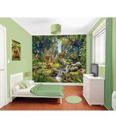 Tieren Wald 12-teilige Fototapete 305x244cm