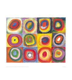 Kandinsky Farbstudie Quadrate Kunstdrucke 60x80cm