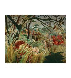 Rousseau Tropical Storm With Tiger Kunstdrucke 60x80cm