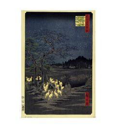 Hiroshige Foxes Meeting at Oji Kunstdrucke 60x80cm