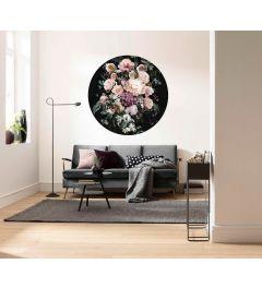 Enchanted Flowers Selbstklebende runde Tapete ⌀125cm