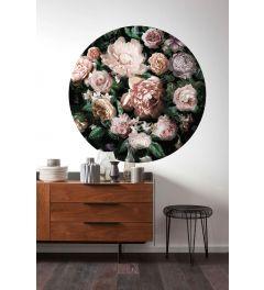 Flower Couture Selbstklebende runde Tapete ⌀125cm