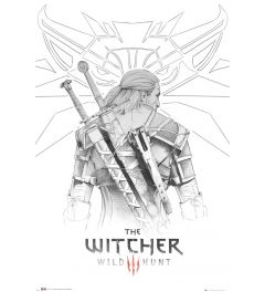 The Witcher Geralt Sketch Poster 61x91.5cm