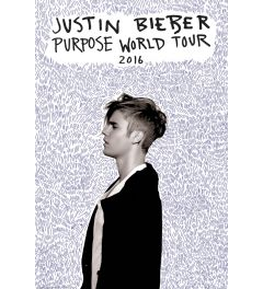 Justin Bieber Purpose World Tour 2016 Poster 61x91.5cm