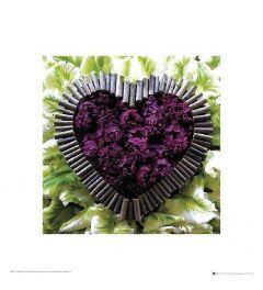 Een Hart van Bloemen - Paars