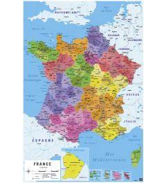 Karte von Frankreich auf französisch