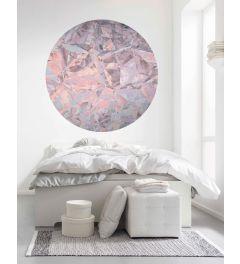 Glossy Crystals Selbstklebende runde Tapete ⌀125cm